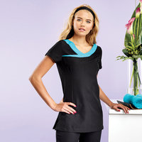 Ivy beauty and spa tunic contrast neckline