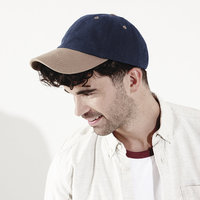 Low-profile heavy brushed cotton cap